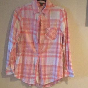 Aeropostale flannel coral and grey